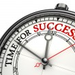 Time for success concept clock — Stock Photo #9469928