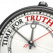Stock Photo: Time for truth concept clock