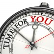 Stock Photo: Time for you concept clock