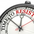 Time to resist concept clock — Photo