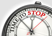 Time to stop concept clock — Stock Photo