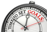 Time to set goals concept clock — Stock Photo