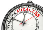 Time for miracles clock closeup — Stock Photo
