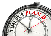 Time for plan b concept clock — Stock Photo