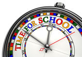 Time for school colorful concept clock — Stock Photo