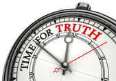 Time for truth concept clock — Stock Photo