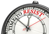 Time to resist concept clock — Stock Photo