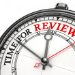 Time for review concept clock — Stock Photo #9470054