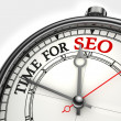 Time for seo concept clock — Stock Photo
