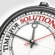 图库照片: Time for solutions concept clock