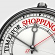 Time for shopping concept clock — Stock Photo