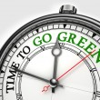 Time to go green concept clock — Stock Photo