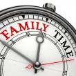 Stock Photo: Family time concept clock
