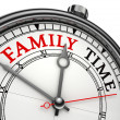 Family time concept clock — Стоковое фото