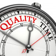 Quality time concept clock — Stock Photo