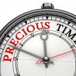 Stock Photo: Precious time concept clock