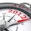 New year 2012 concept compass — Stockfoto #9470397