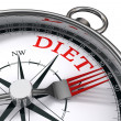 Diet the way indicated by concept compass — Stock Photo