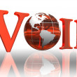 Voip logo word — Stock Photo #9471142