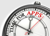 Time for apps concept clock — Stock Photo