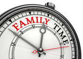 Family time concept clock — Stock Photo