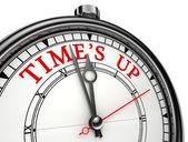 Il tempo è scaduto orologio concetto — Foto Stock