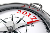 New year 2012 concept compass — Stock Photo