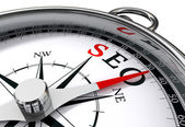 Seo the way indicated by compass — Stock Photo