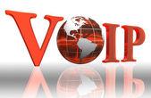 Voip logo word — Stockfoto