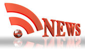 Rss news logo word — Stock Photo