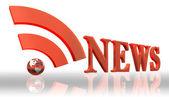 Rss news logo word — Stock Photo
