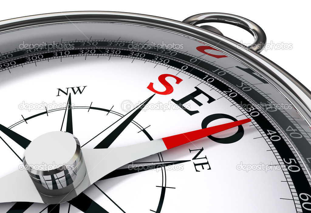 Seo the way indicated by compass conceptual image — Stock Photo #9470533
