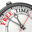 Stock Photo: Free time concept clock