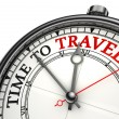 Time to travel concept clock — Stock Photo