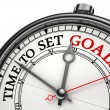Time to set goals concept clock — Stockfoto