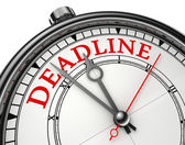 Deadline concept clock — Stock Photo