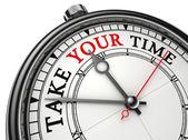 Neem uw tijd concept klok — Stockfoto