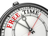 Free time concept clock — Stock Photo