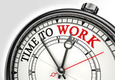 Time to work concept clock — Stock Photo