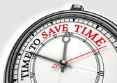 время, чтобы сэкономить время концепции часы — Стоковое фото