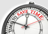 Time to save time concept clock — Foto Stock