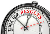 Time for results concept clock — Stock Photo