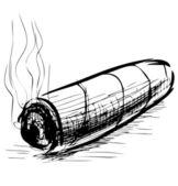 Lighting cigar — Stock Vector