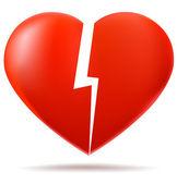 Deux parties du coeur brisé — Vecteur