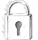 门的锁状图标 — 图库矢量图片