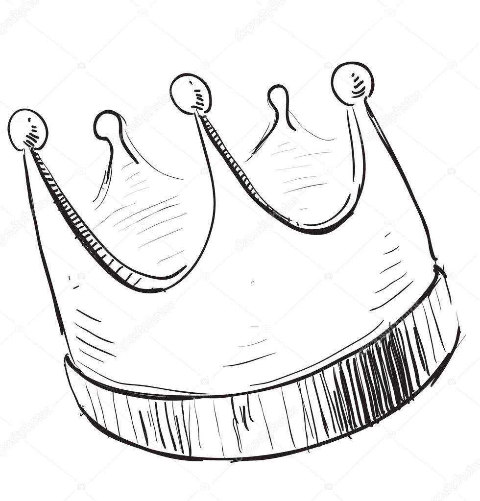 Simple Queen Crown Drawing