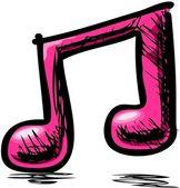 Nota da música rosa dupla — Vetorial Stock