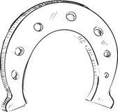 Lucky horseshoe cartoon icon. — Stock Vector
