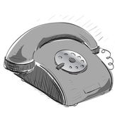 Vintage grey phone — Stock Vector