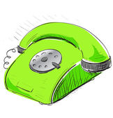Vintage green phone — Stock Vector